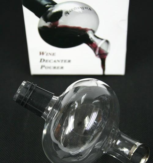 Aireador de vino y decantador en cristal