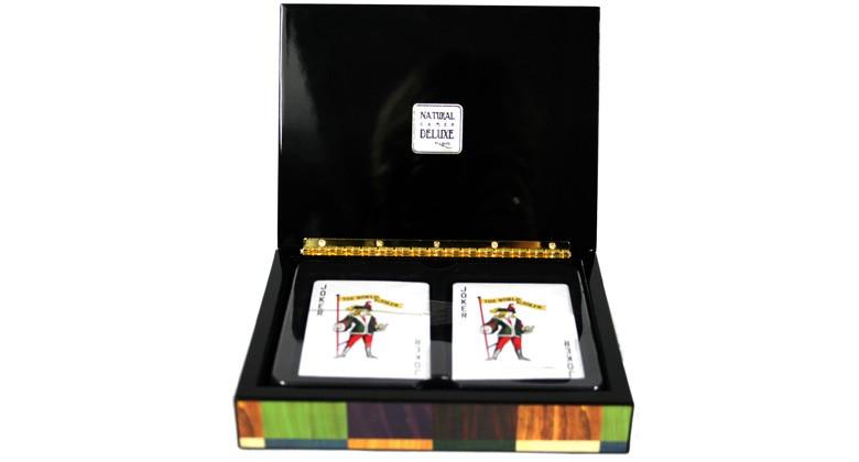 Caja de juego Póker con 2 barajas