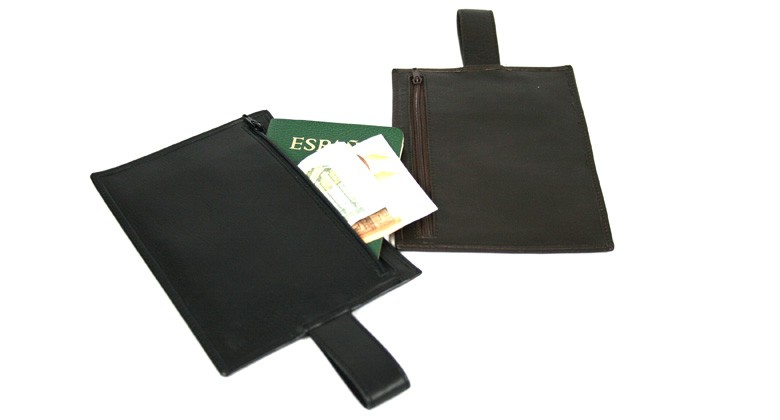 Porta pasaporte y dinero oculto para viajar