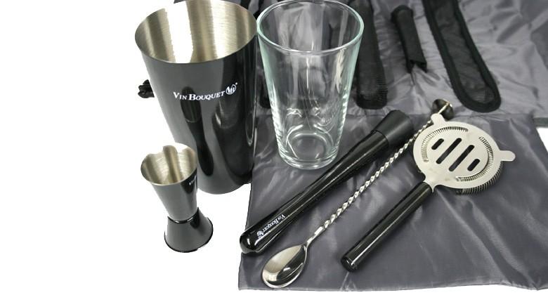 Set de gin tonic de viaje, con todos los utensilios necesarios