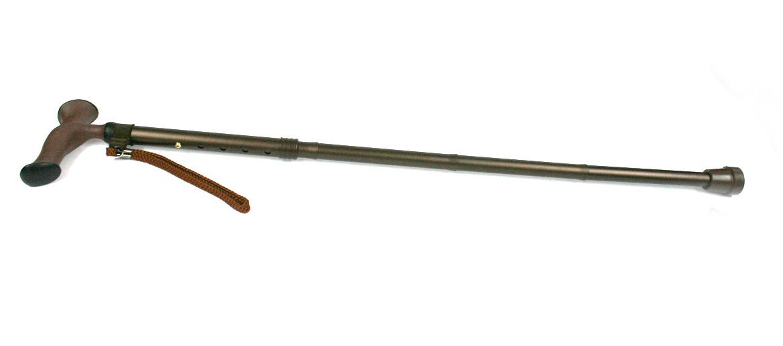 Bastón plegable de aluminio puño ergonómico color marrón - comprar online precio 35€ euros