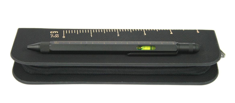 Bolígrafo escalimetro con nivel, puntero y destornillador con funda - comprar online precio 30€ euros