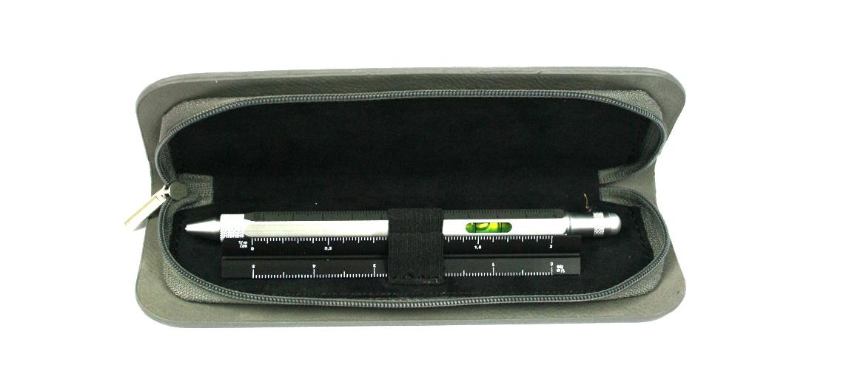 Bolígrafo escalimetro nivel, puntero, destornillador y regla con funda - comprar online precio 39€ euros