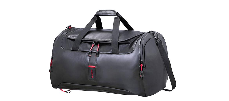 Bolsa de viaje ligera marca Samsonite con detalles en rojo - comprar online precio 110€ euros