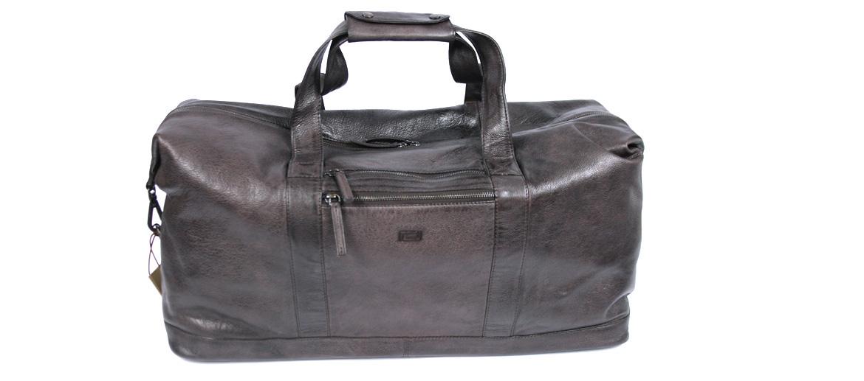 Bolsa viaje de piel envejecida color marrón - comprar online precio 198€ euros