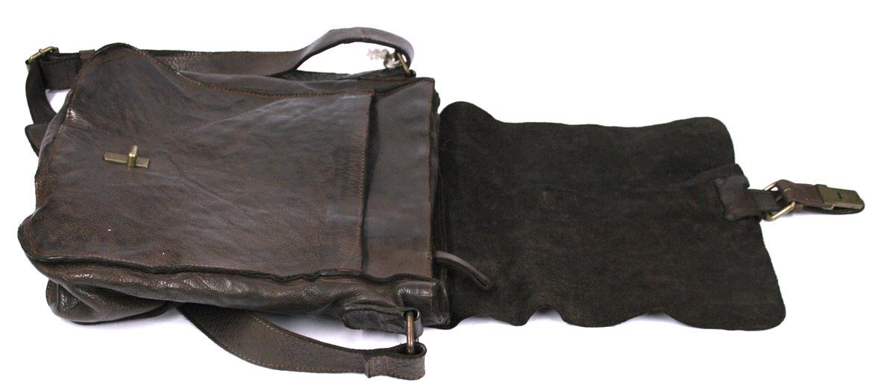 Bandolera hombre de piel envejecida color marrón - comprar precio 170€ euros