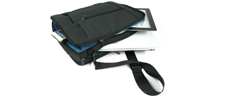 Bolso bandolera convertible en mochila para el portátil o tableta - comprar online precio 53€ euros
