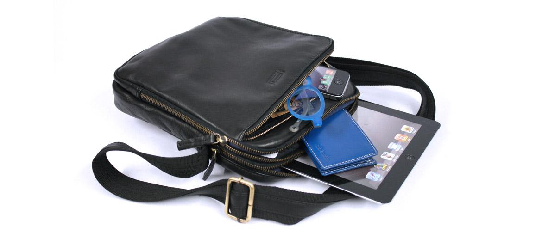 Bolso Bandolera de piel negra - comprar online precio 113€ euros