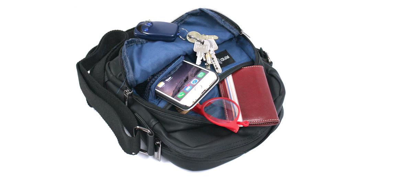 Bolso bandolera con bolsillo bloqueador de RFID marca National Geographic - comprar online precio 39€ euros