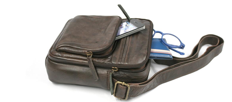 Bolso bandolera mini con bolsillo frontal con cremallera - comprar online precio 86€ euros