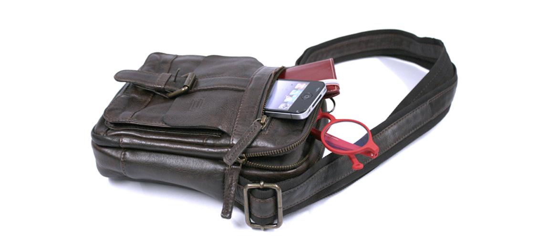 Bolso bandolera mini de piel envejecida color marrón - comprar online precio 87€ euros