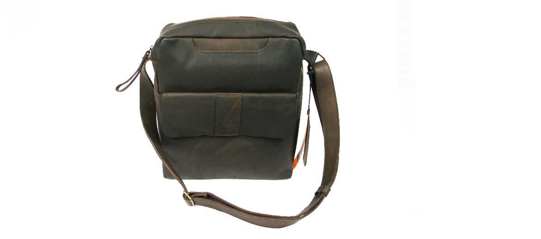 Bolso bandolera grande de piel color marrón - comprar online precio 135€ euros