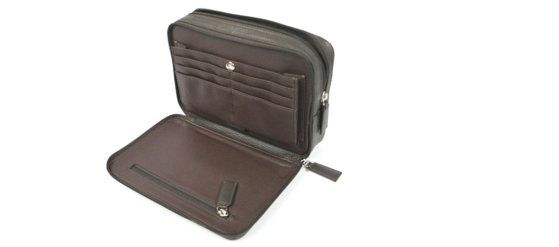 Bolso de mano de piel negro o marrón - comprar online precio 75€ euros