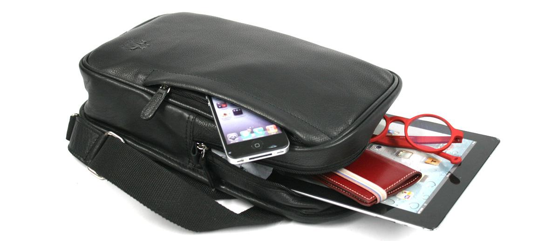 Bolso cruzado en piel color negro - comprar online precio 89€ euros