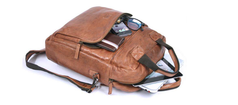 Bolso porta documentos convertible en mochila o bandolera color habana - comprar online precio 181€ euros