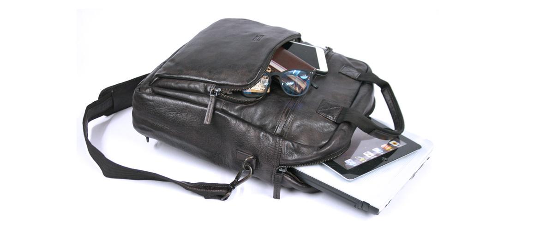 Bolso porta documentos convertible en mochila o bandolera color negro - comprar online 181€ euros