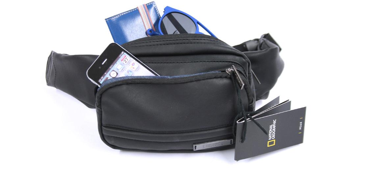 Bolso riñonera para viaje color negro marca National Geographic - comprar online precio 39€ euros