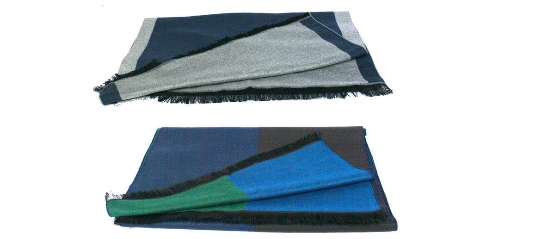 Bufanda foulard bicolor muy suave para el frío - comprar online precio 35€ euros
