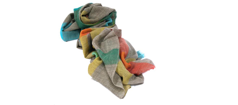 Bufanda foulard de cuadros 100% lana - comprar online precio 83€ euros