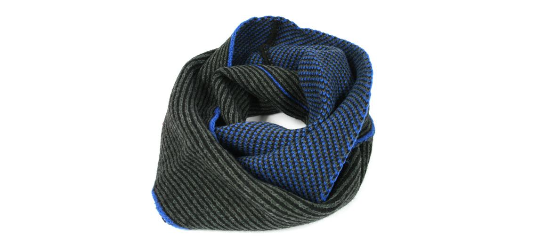 Bufanda tipo cuello en tonos gris y azul ¡para el frío! - comprar online 26€ euros