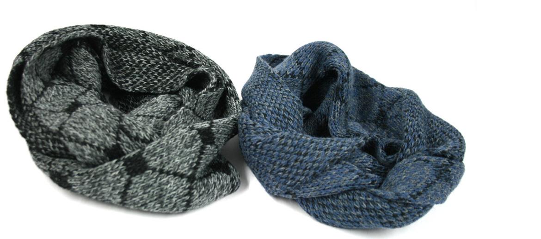 Bufanda tipo cuello con dibujo de rombos para el frío - comprar online precio 33€ euros