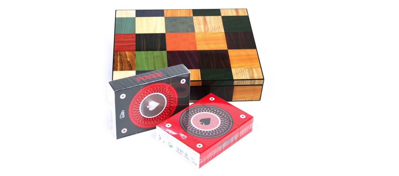 Caja decorativa de juego con dos barajas - comprar online precio 35€ euros