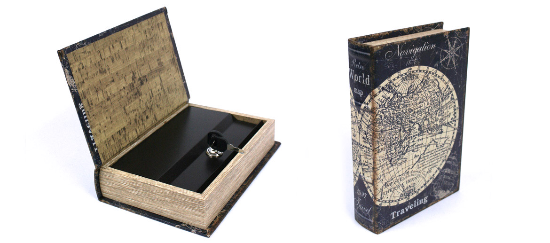 Caja fuerte camuflada en un libro de navegación náutica - comprar online precio 22€ euros