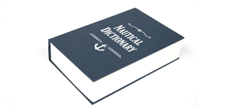 Caja fuerte camuflada en un libro náutico - comprar online precio 28€ euros