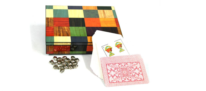 Caja lacada con el juego de mus - comprar online precio 47€ euros
