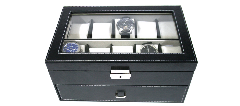 Caja relojero color negro para guardar 20 relojes  - comprar online precio 87€ euros