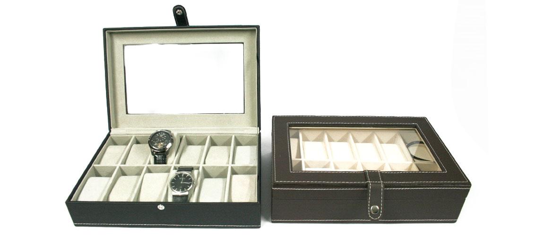 Caja relojero para guardar 12 relojes - comprar online precio 40€ euros