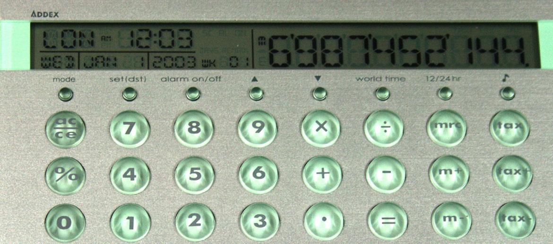 Calculadora con alarma hora, día, mes - comprar 25€ euros
