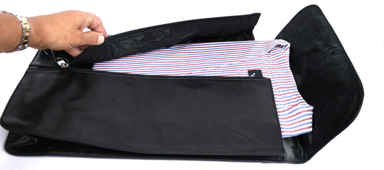 Camisero de viaje para varias camisas - Comprar Online precio 63€ euros - Piel negra