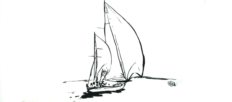 Camiseta para el verano con dibujo de velero - comprar online precio 25€ euros