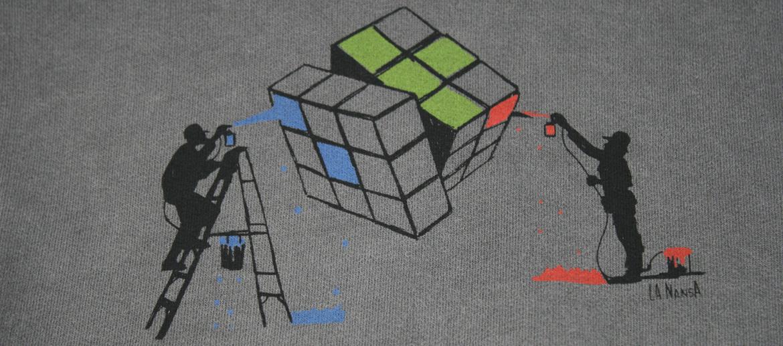 Camiseta sudadera con capucha para los aficionados al juego del cubo Rubik - Solohombre