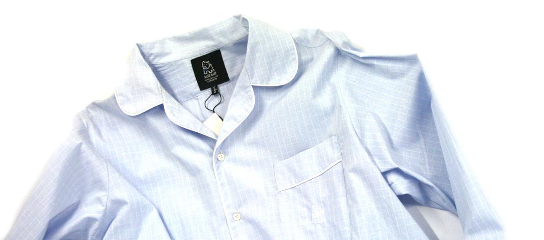 Camisón para hombre de algodón azul cuadros - comprar online precio 69€ euros