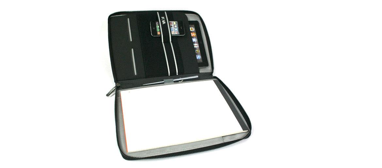 Carpeta Porta folios A4 con compartimento para Ipad o tableta - comprar online precio 75€ euros