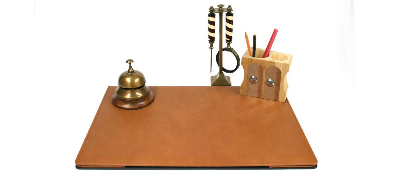 Carpeta vade protector mesa despacho en piel beige con apertura - comprar online precio 159€ euros