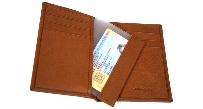 Cartera billetera hombre piel color habana - comprar online Precio 50€ euros
