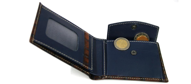 Cartera billetero con monedero piel grabada marca Solohombre - comprar online precio 44€ euros