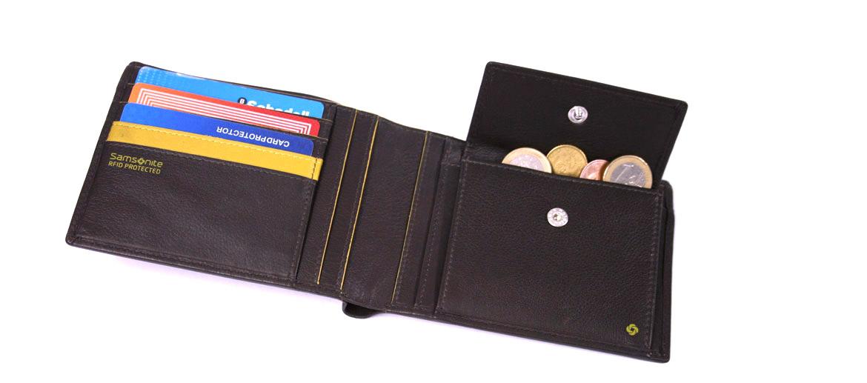 Cartera billetero con monedero grande marca Samsonite - comprar online precio 66€ euros
