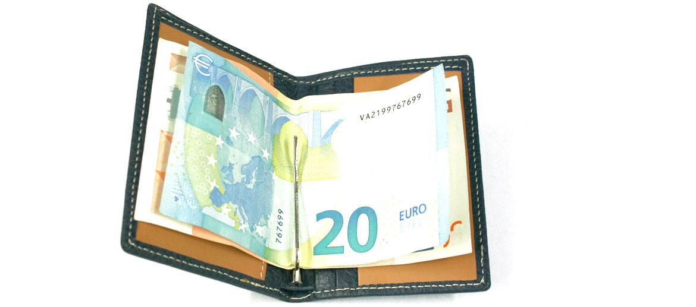 Cartera billetero monedero con pinza marca El Potro con protección de lectura de tarjetas - comprar online 42€ euros