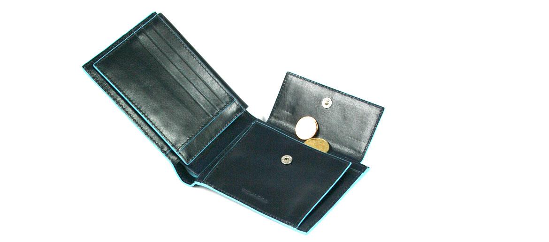 Cartera billetero tarjetero con monedero y porta DNI marca Piquadro - comprar online precio 99€ euros