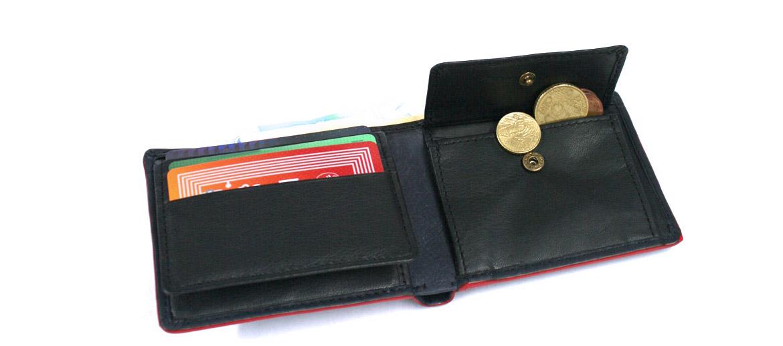 Cartera billetero tarjetero con monedero con cierre elástico - comprar online precio 32€ euros
