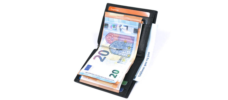 Cartera billetero tarjetero con pinza de billetes - comprar online precio 30€ euros