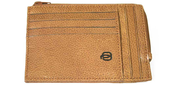 Cartera tarjetero monedero con cremallera marca Piquadro - comprar online precio 65€ euros