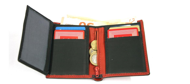 Cartera billetera tarjetero y monedero con cierre de goma - comprar online precio 31€ euros
