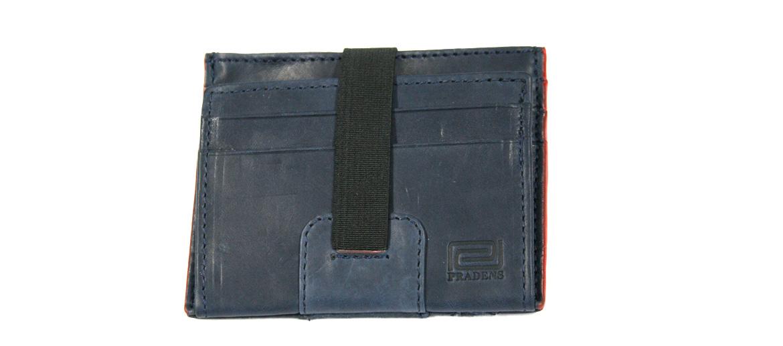 Cartera billetero tarjetero con elástico color azul - comprar online precio 25€ euros