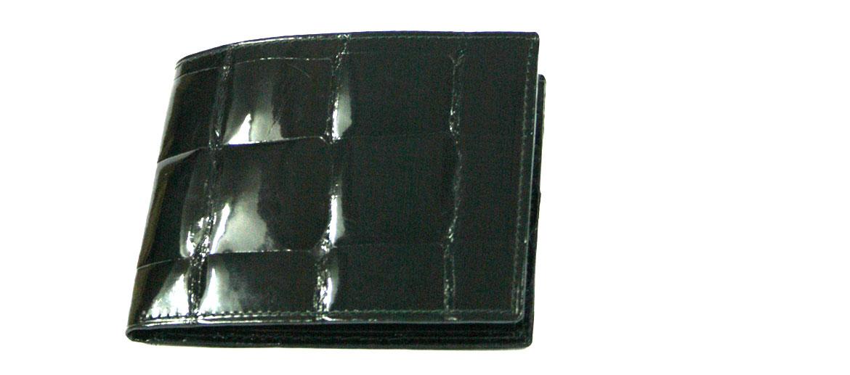 Cartera billetero tarjetero autentica piel de cocodrilo color negro - comprar online precio 399€ euros