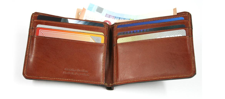 Cartera billetero tarjetero de cuero y lona - comprar online precio 29€ euros